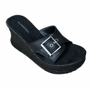 CLASSIFIED Missile Black Block Heel Open Toe